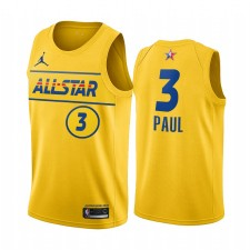 All-Star 2021 & 3 Chris Paul Gold Western Conference Suns Maillot