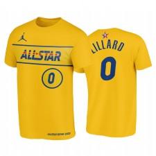 All-Star 2021 & 0 Damian Lillard Western Conference Blazers T-shirt Or