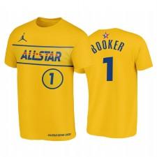 All-Star 2021 & 1 Devin Booker Western Conference Suns Bleu T-shirt