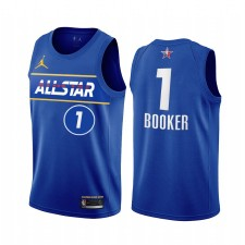 All-Star 2021 Devin Booker MAILLOT BLEU WESTERN WESTERING Soleils Suns Uniforme