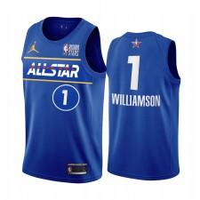 Zion Williamson USA Team 2021 Étoiles montantes Maillot Bleu Pélicans All-Star