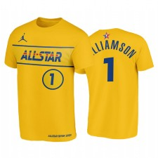 T-shirt All-Star 2021 & 1 Zion Williamson Western Gold