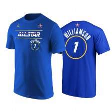 All-Star 2021 & 1 Zion Williamson Western Conference Pelicans Royal T-shirt