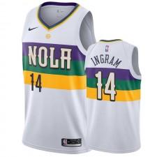 Brandon Ingram Nouvelle-Orléans Pelicans & 14 Ville Main Maillot - Blanc
