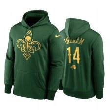 Brandon Ingram Neuf Orléans Pelicans Sweat à capuche Golden Golden Limited 2020 St Paddy's Day