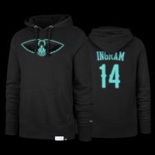 Nouveaux Orléans Pelicans Brandon Ingram Noir Luminous Diamond Bleu 47 Marque Sweat à capuche et 14