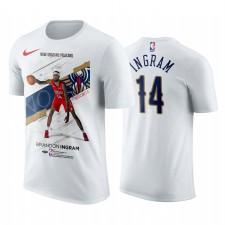 Nouveaux Orléans Pelicans Brandon Ingram Blanc Entraînement T-shirt