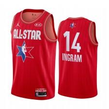 2020 NBA All-Star Game Maillot Réserve Nouvelle Orléans Pelicans Brandon Ingram et 14 Rouge