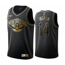 Brandon Ingram Nouvelle-Orléans Pelicans Golden Edition Main Maillot - Noir