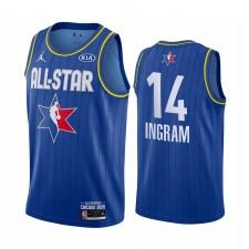2020 NBA All-Star Game Maillot Réserve Nouvelle-Orléans Pelicans Brandon Ingram et 14 Bleu