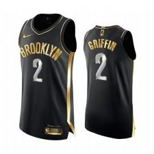 Brooklyn Nets Blake Griffin Noir Edition Golden Authentique Maillot 2021