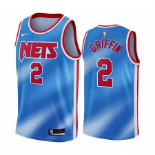 Blake Griffin & 2 Nets Brooklyn 2021 Bleu Classic Edition Maillot