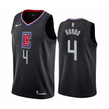 Rajon Rondo Los Angeles Clippers Noir Déclaration Édition 2021 Trade Maillot