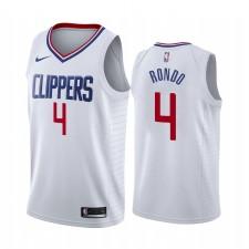 Rajon Rondo Los Angeles Clippers Blanc Association Edition 2021 Trade Maillot