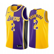 Los Angeles Lakers Andre Drummond Split Edition Gold Purple Maillot 2021 Commerce