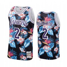 Andre Drummond & 2 Los Angeles Lakers Floral Mode Maillot Noir