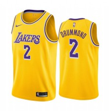 Andre Drummond Los Angeles Lakers & 2 Gold Icon Edition Maillot