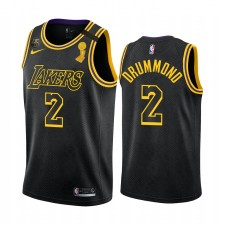 Andre Drummond Los Angeles Lakers & 2 Noir Mamba Inspiré City Maillot Champs Champs Patch