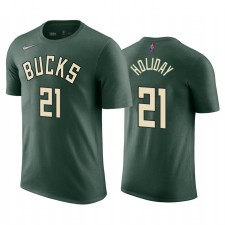 Jrue Holiday Bucks & 21 Édition gagnée Hunter Vert T-shirt Nom Nom