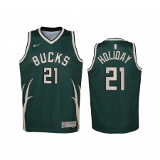 Jrue Holiday Milwaukee Bucks 2021 gagné Edition Green Enfants Maillot - Swingman