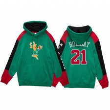 Jrue Holiday Milwaukee Bucks Fushion Fleece Sweat à capuche Vert Distribution HWC