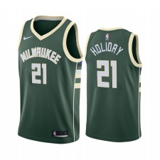 Jrue Holiday Milwaukee Bucks Green Icon Edition Maillot 2020 Commerce