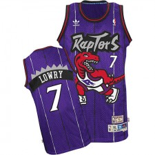 NBA Kyle Lowry Authentic Men's Purple Jersey - Adidas Toronto Raptors &7 Hardwood Classics