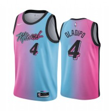 Victor Oladipo Miami Hear Bleu Pink City Edition 2021 Trade Maillot