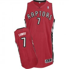 NBA Kyle Lowry Authentic Men's Red Jersey - Adidas Toronto Raptors &7 Road