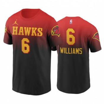 Lou Williams Hawks # 6 Gradient T-shirt rouge en édition classique