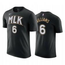 Lou Williams Hawks & 6 City Edition Noir T-shirt 2021 Commerce