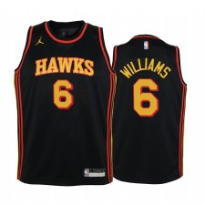 Atlanta Hawks Lou Williams 2021 Édition Noir Enfants Maillot Swingman & 6