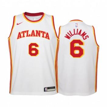 Atlanta Hawks Lou Williams 2021 Association Edition Blanc Enfants Maillot Swingman # 6