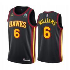 Lou Williams Atlanta Hawks 2021 Édition de la déclaration Noir & 6 Maillot Swingman