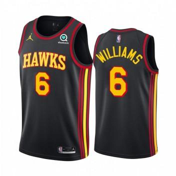 Lou Williams Atlanta Hawks 2021 Édition de la déclaration Noir # 6 Maillot Swingman