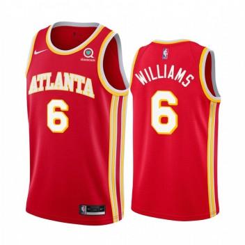 Lou Williams Atlanta Hawks 2021 Icon Edition Red # 6 Maillot Swingman
