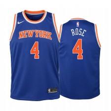 New York Knicks Derrick Rose Icon Edition Bleu Enfants Maillot & 4