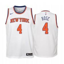 New York Knicks Derrick Rose Association Edition Blanc Enfants Maillot & 4