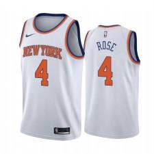 Derrick Rose New York Knicks Blanc Association Edition Maillot