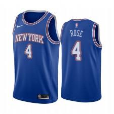Derrick Rose New York Knicks Bleu Déclaration Édition Maillot