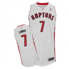 NBA Kyle Lowry Authentic Men's White Jersey - Adidas Toronto Raptors &7 Home