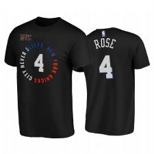 Derrick Rose Knicks & 4 City Edition Noir T-shirt