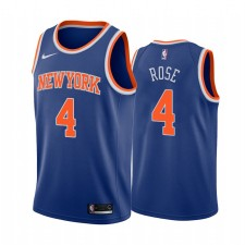 Derrick Rose New York Knicks Bleu Icon Edition Femmes Maillot