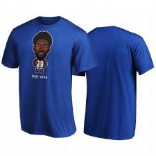 Joel Embiid & 21 76ers 2020 NBA Playoffs Louid Star Player Royal T-shirt Royal
