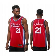 Joel Embiid Philadelphia 76ers Déclaration rouge Nouvelle saison Maillot