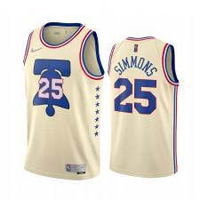 Philadelphia 76ers Ben Simmons gagné Edition Crème et 25 Maillot