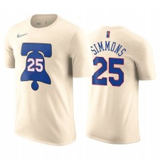 BEN SIMMONS 76ERS ET 25 EDIME EDIME CREAM T-shirt Numéro de nom Nom