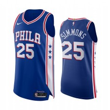 Ben Simmons Philadelphia 76ers Icon Royal Icon Authentique Maillot
