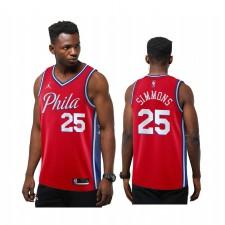 Ben Simmons Philadelphia 76ers Enseignant rouge Nouvelle saison Maillot