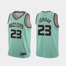 Michael Jordan Charlotte Hornets Mint Vert 2021 City édition Maillot Propriétaire-joueur